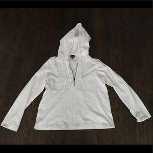 Half zip up hoodie